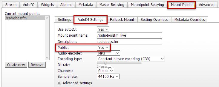 radioboss fm | Registering radio in a directory